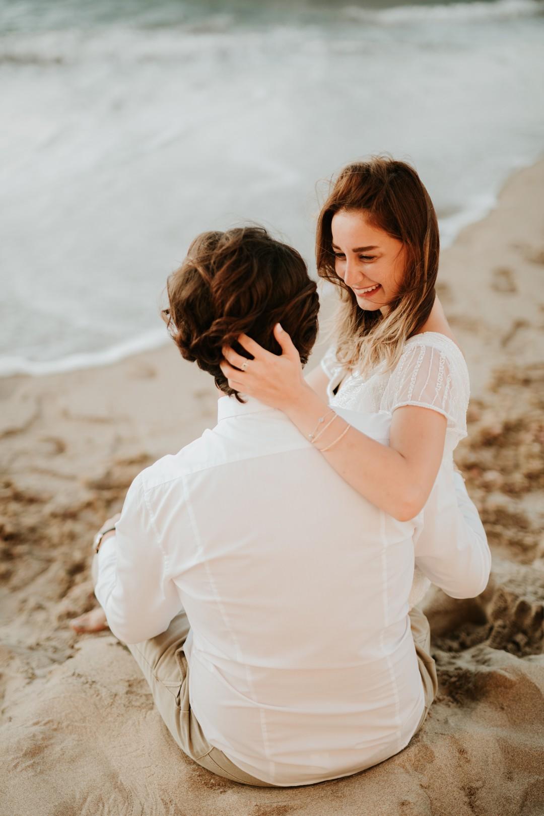 plajda düğün fotoğrafları
